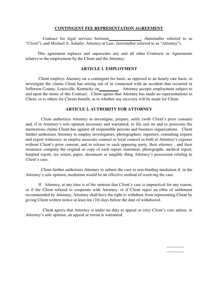 Contract for legal