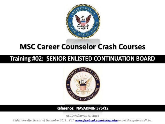 MSC Career Counselor Crash Courses                                        NCC(AW/SW/SCW) AstroSlides are effective as of D...
