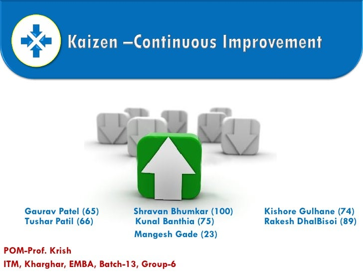 A Kaizen - Continues Improvement