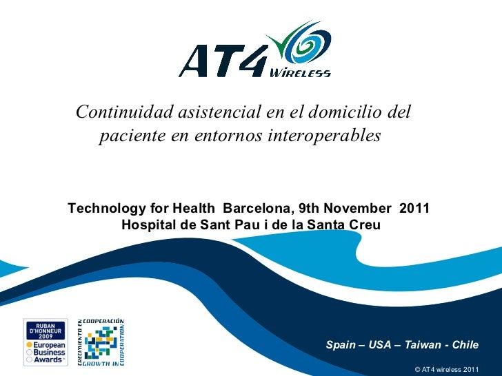 Continuidad asistencial domicilio del paciente at4 wireless