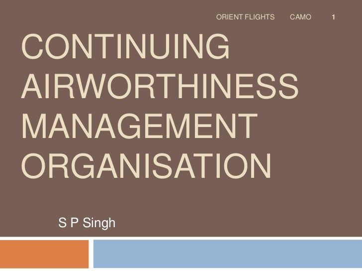 Continuing airworthiness management organisation