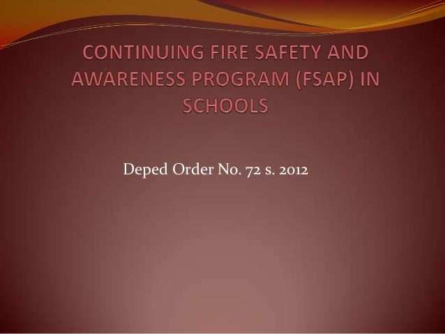 Continuing fire safety and awareness program (fsap) real presentation