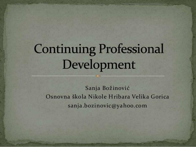 Continuing professional development for zsv