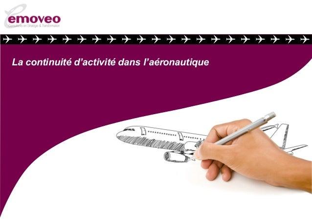 La continuité d'activité dans l'aéronautique