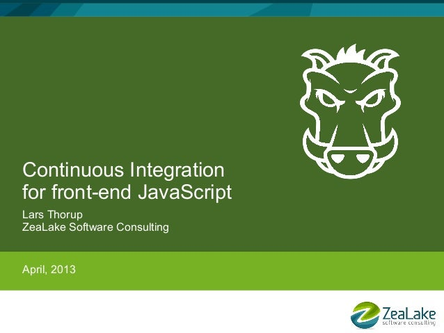 Continuous Integration for front-end JavaScript