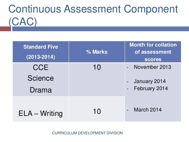 continuous assessments essay Assessing assessment they should move away from easy assessments that miss the point to more and teachers can practice the kind of continuous.