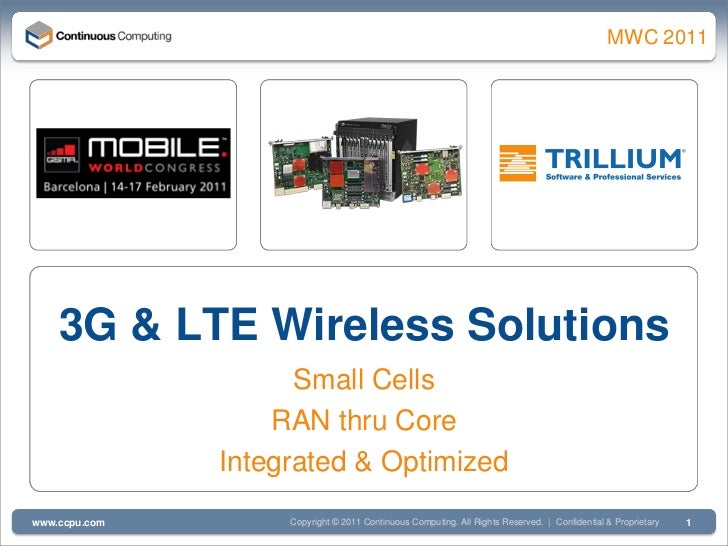 3G & LTE Wireless Solutions