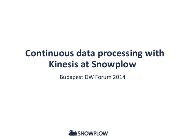 Continuous Data Processing with Kinesis at Snowplow