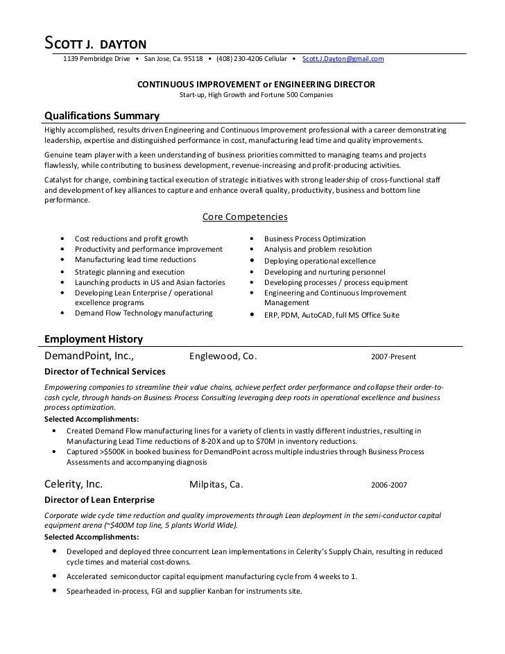 continuous improvement director 09 01 2009