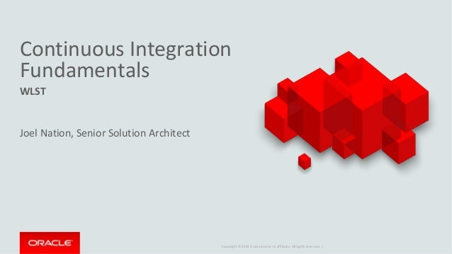 Oracle Middleware Forum Canberra: CI Fundamentals - WLST