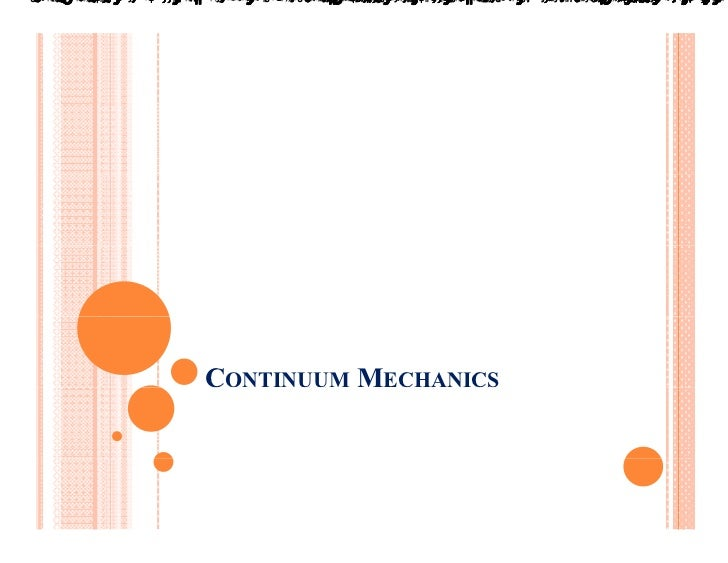 Continuum mechanics v3