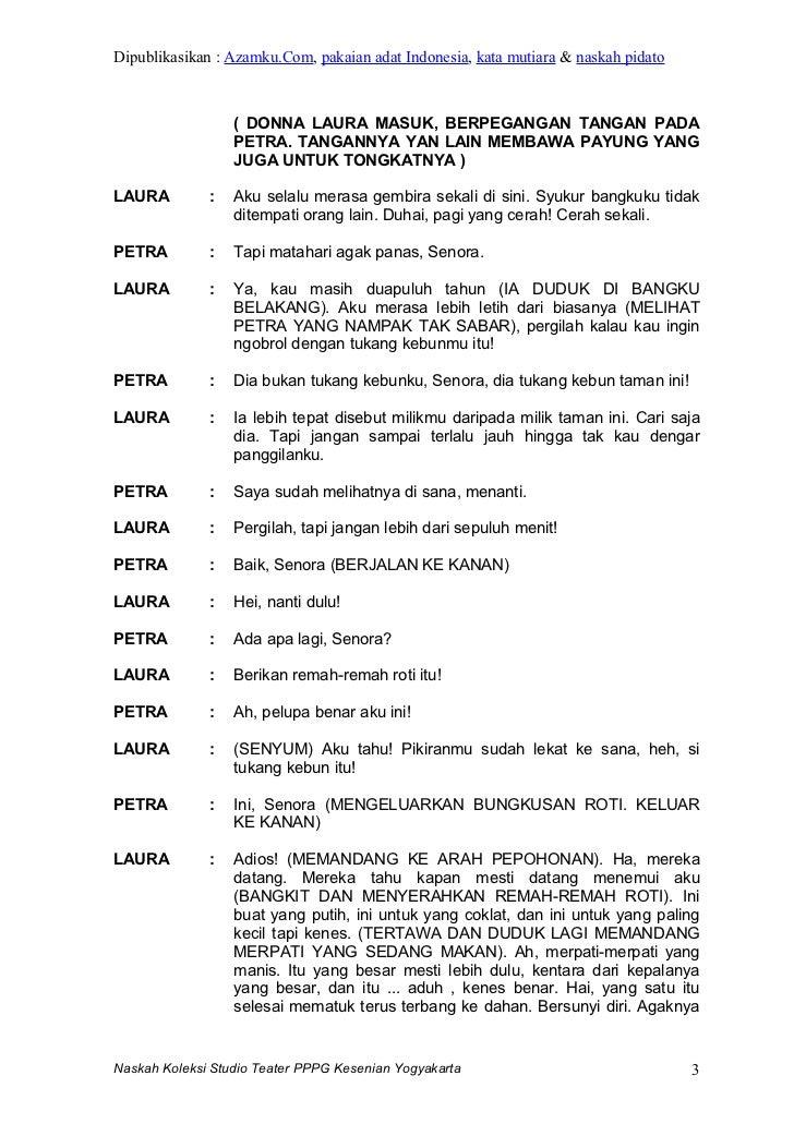 Contoh Naskah Drama Contoh Skrip Drama Teks Drama Singkat  Share The