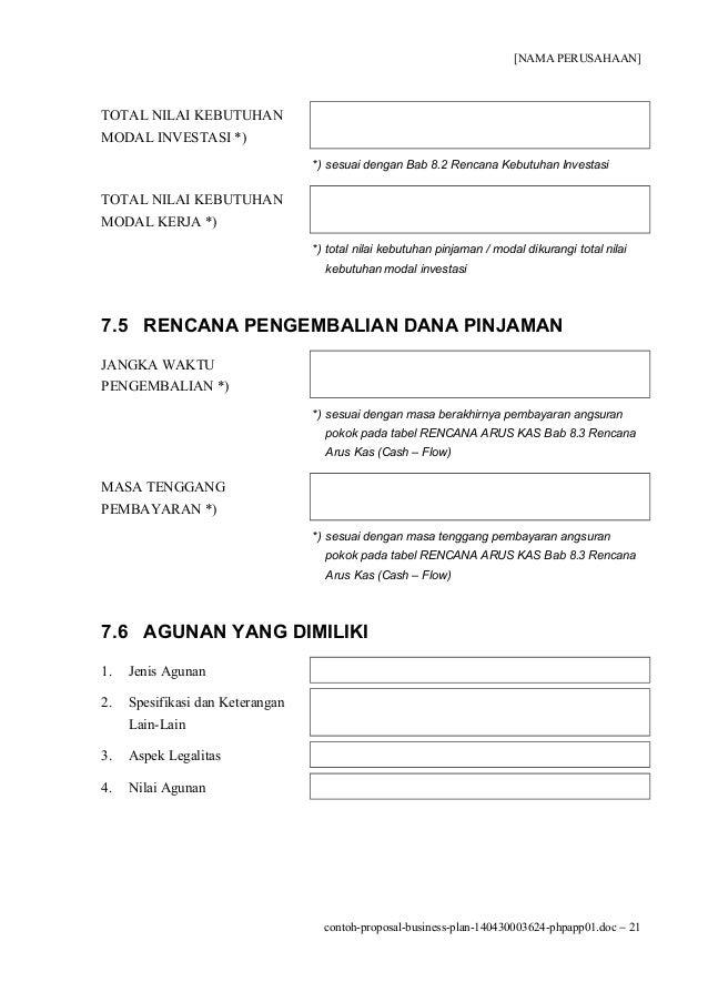 proposal untuk investor