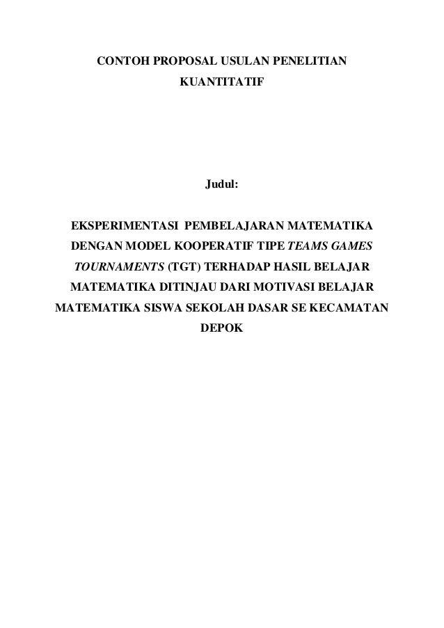 Contoh Judul Thesis Kuantitatif