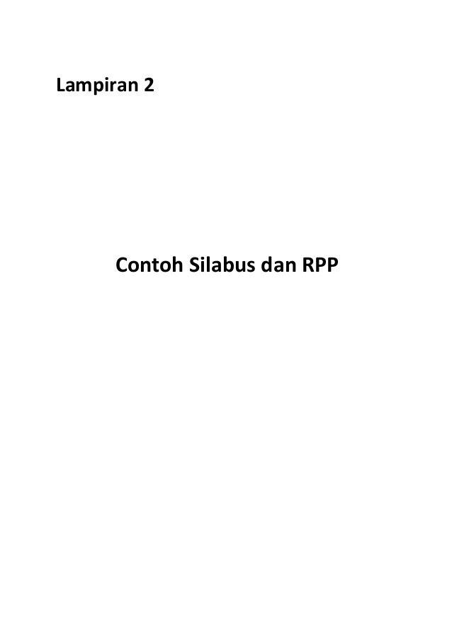 Contoh Silabus Dan Rpp Kurikulum 2013