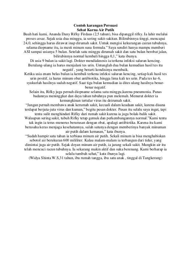 B.Indonesia - Contoh karangan