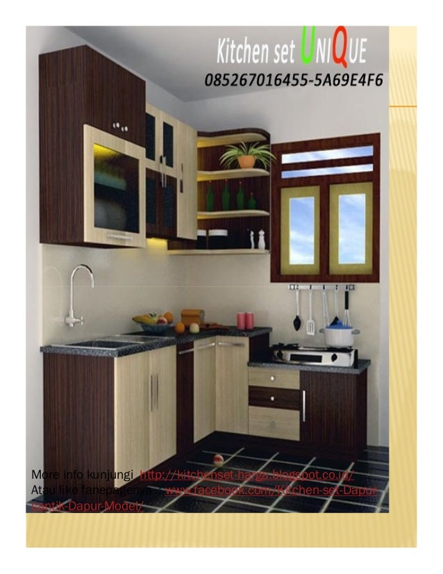 Contoh kitchen set dapur mungil harga kitchen set atas for Harga kitchen set murah