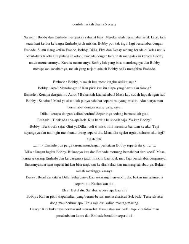 Contoh naskah drama 5 orang