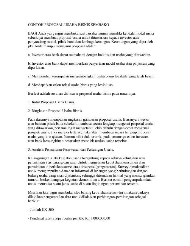 Contoh proposal usaha_bisnis_sembako