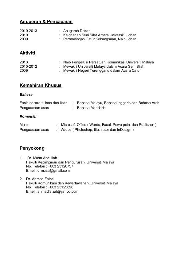contoh resume bahasa melayu doc