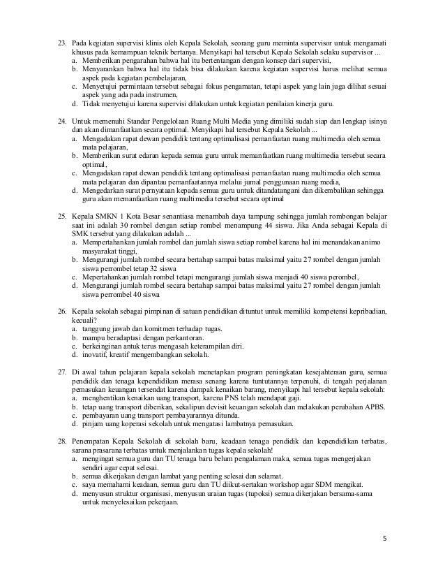 Contoh Soal Ukg Kepala Sekolah Dasar 2015 Contoh Soal Ukg 2015 Untuk Kepala Sekolah Kumpulan