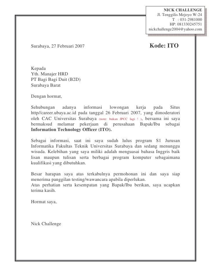 NICK CHALLENGE Jl. Tenggilis Mejoyo W-24 ...