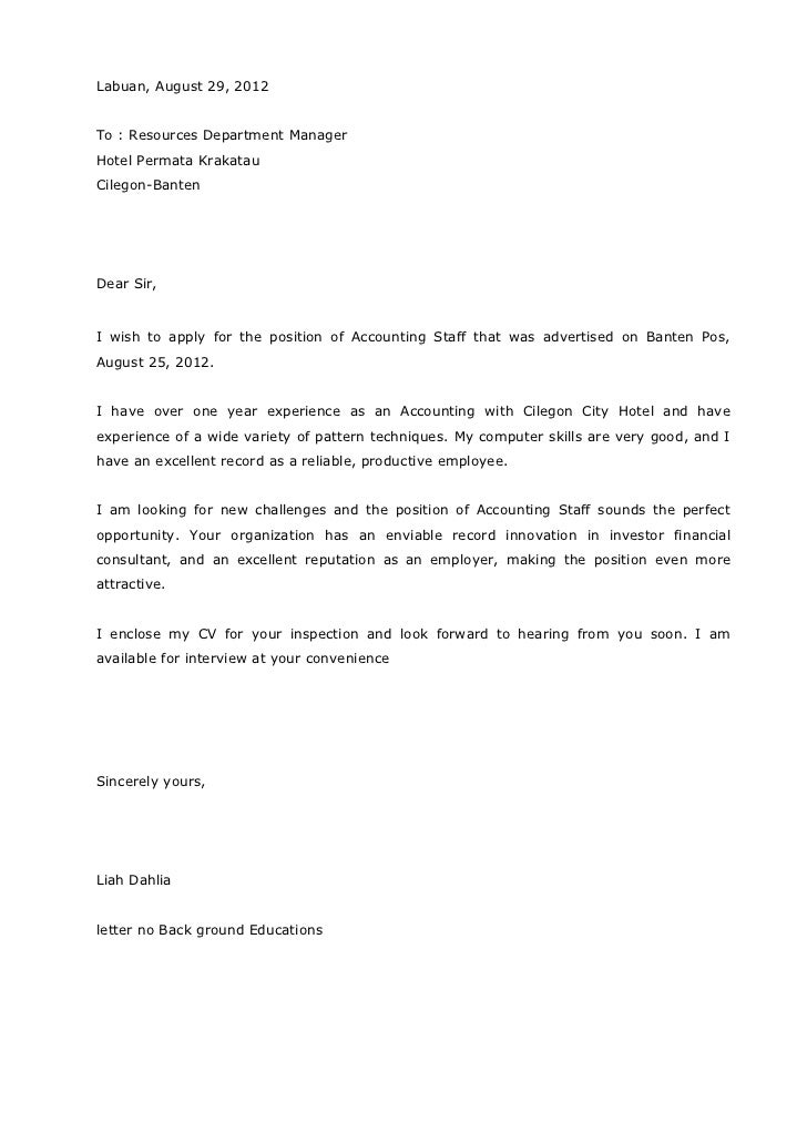 cover letter for curriculum vitae