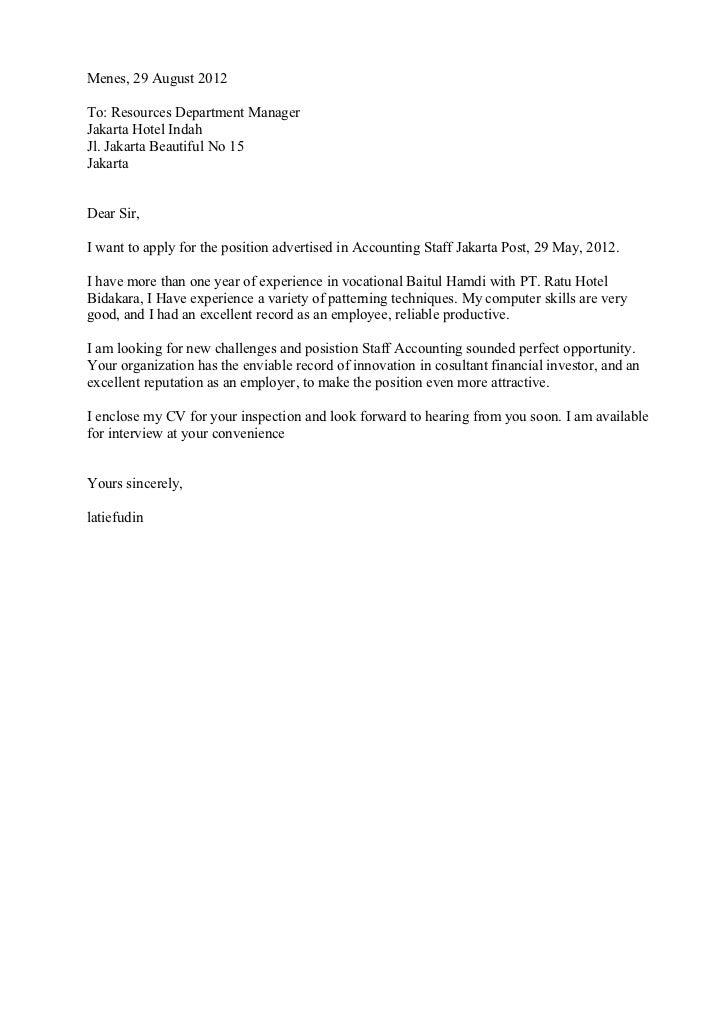 Contoh Surat Lamaran Pekerjaan Bahasa Ingris Ap 3 Smk