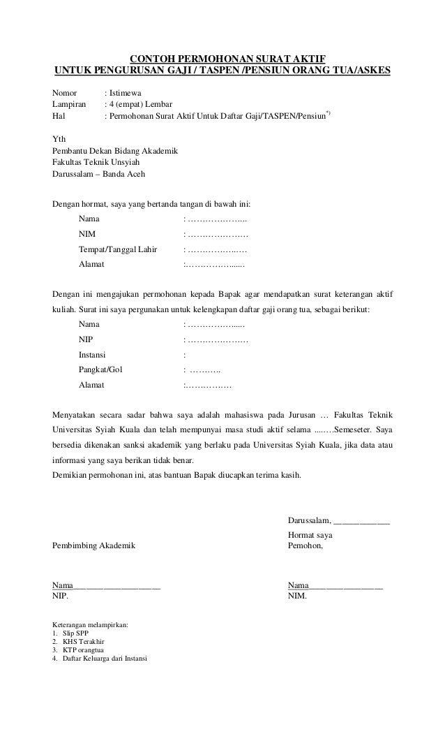Contoh Surat Permohonan Naik Pangkat Contoh Surat