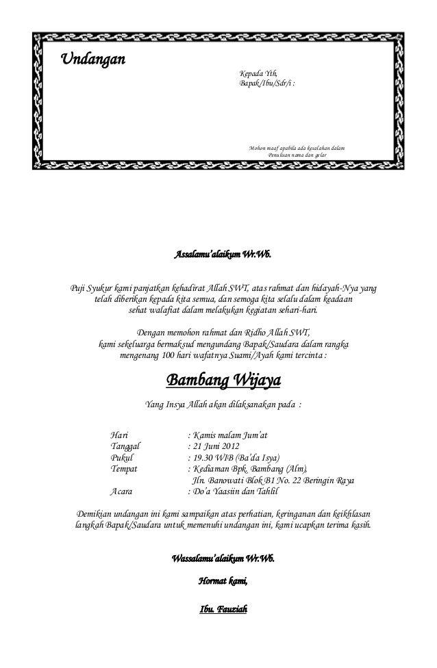 Download image Contoh Surat Undangan Tahlil 40 100 1000 Hari Haul PC ...