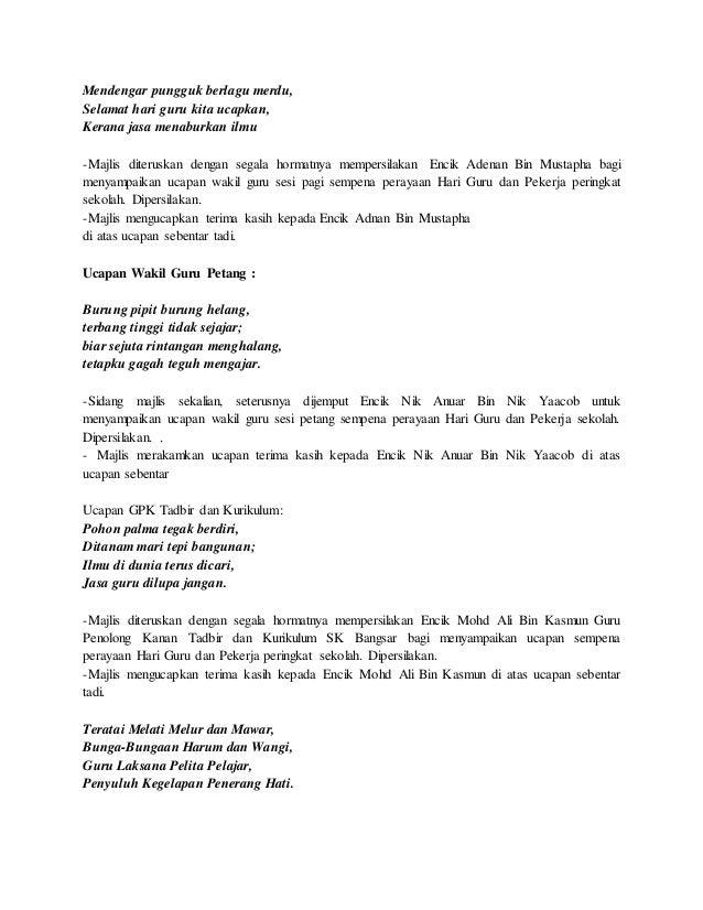 Contoh Teks Pengacara Majlis Obtenez Livre