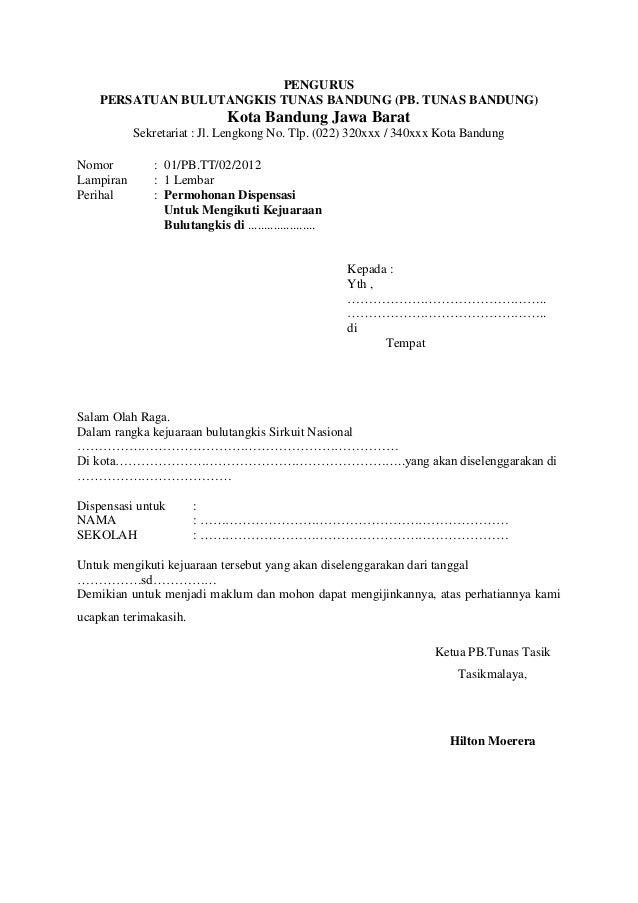 Contoh Surat Dispensasi Pembayaran Kuliah Lengkap Surat 31