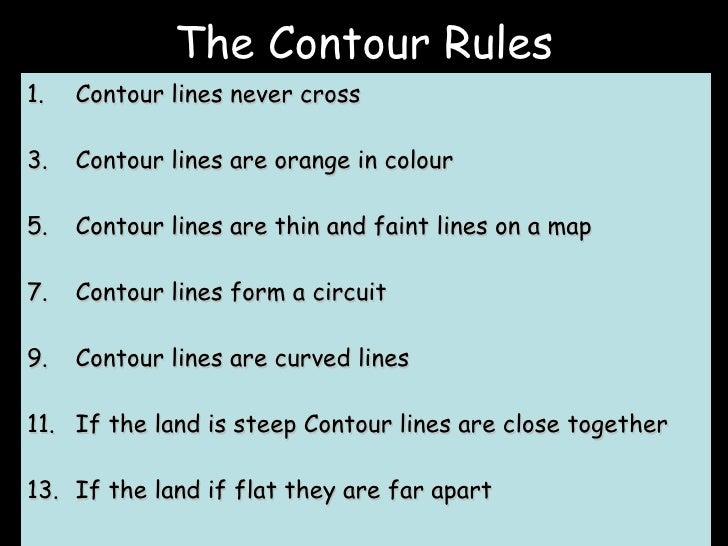 Contour Line Drawing Rules : Contour lines