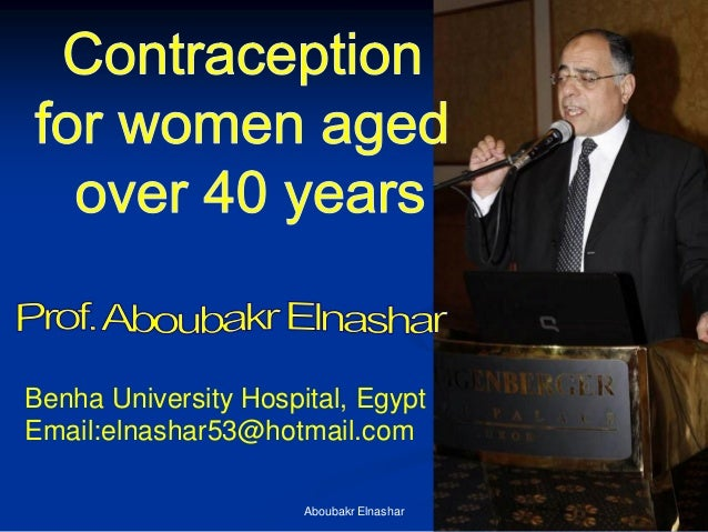 Contraception  for women aged  over 40 years