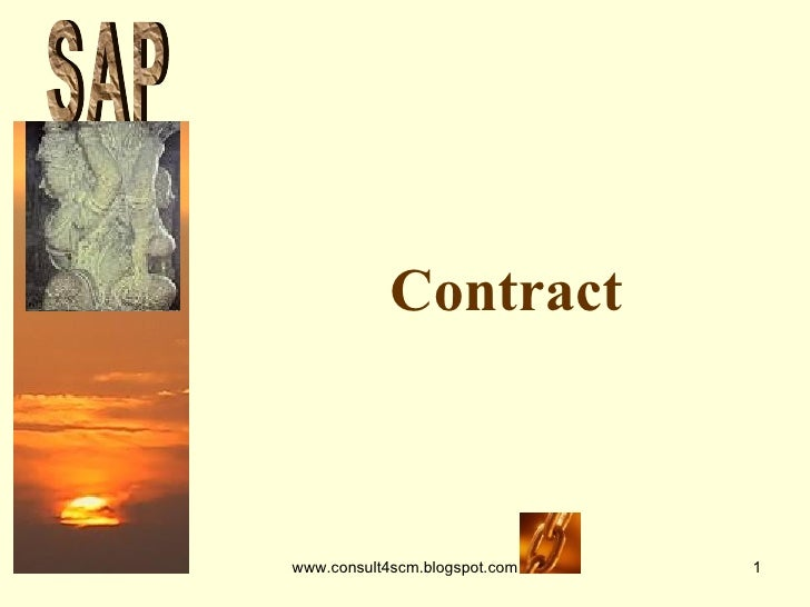 Contract S A P