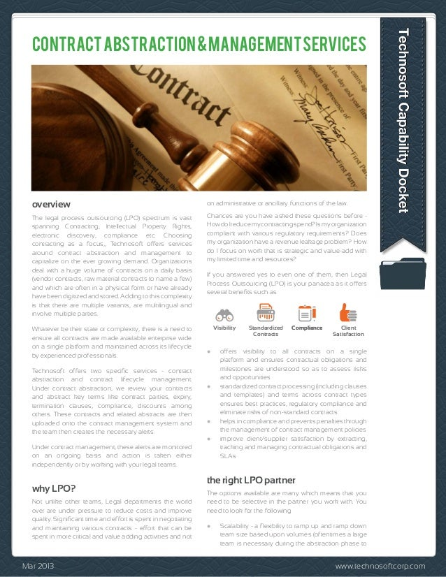 CONTRACT ABSTRACTION & MANAGEMENT SERVICES  overview                                                       on administrati...