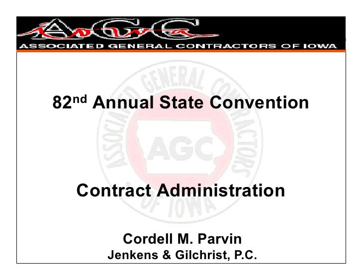 Contract administration iowa AGC