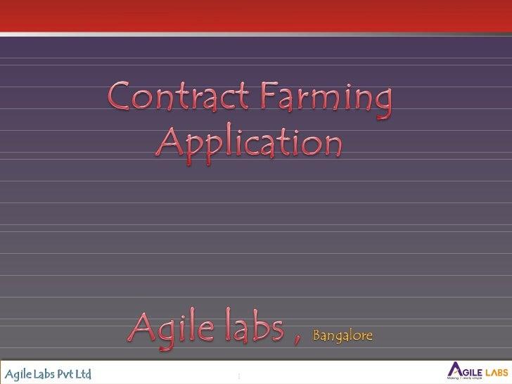 Contract farming agilelabspresentation