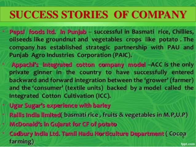 contract farming in india its What is contract farming  and even written contracts often do not provide the legal protection in india that may be observed in other countries  lack of enforceability of contractual provisions can result in breach of contracts by either party  i want farming of fish on contract basis have a pond of 17000 sq ft any body contact me.