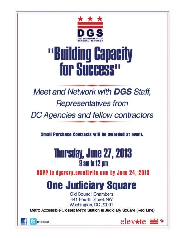 """""""Building Capacity For Success Flyer"""