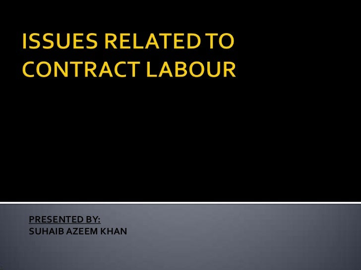 Contract labour in india