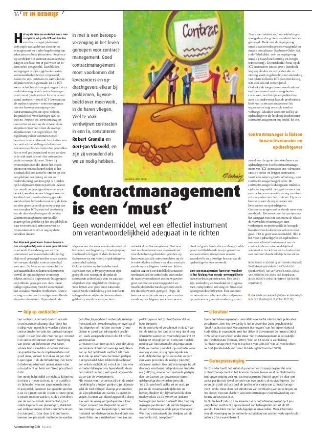 Contractmanagement als must