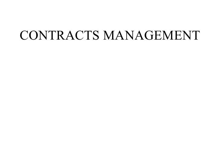 Contract management sys