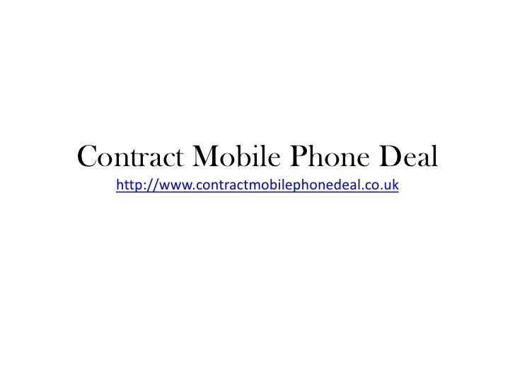Contract Mobile Phone Deal