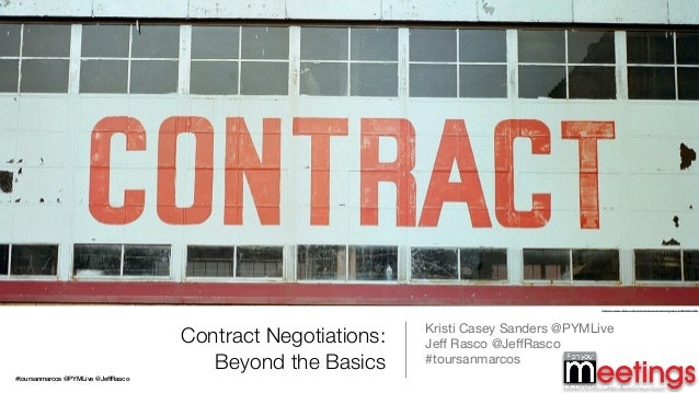 Contract Negotiations: Beyond the Basics