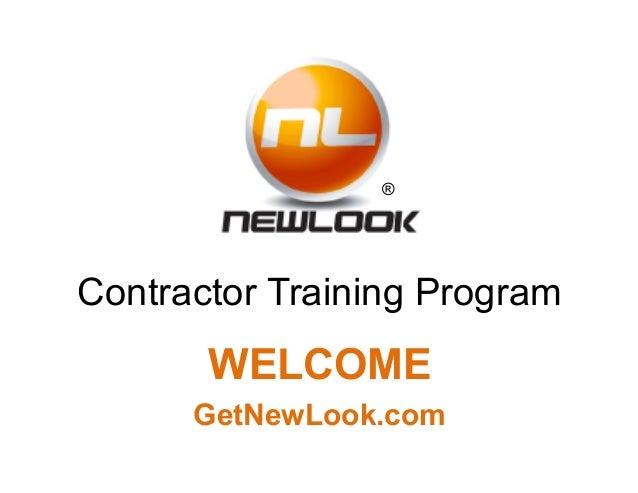 Contractor training presentation