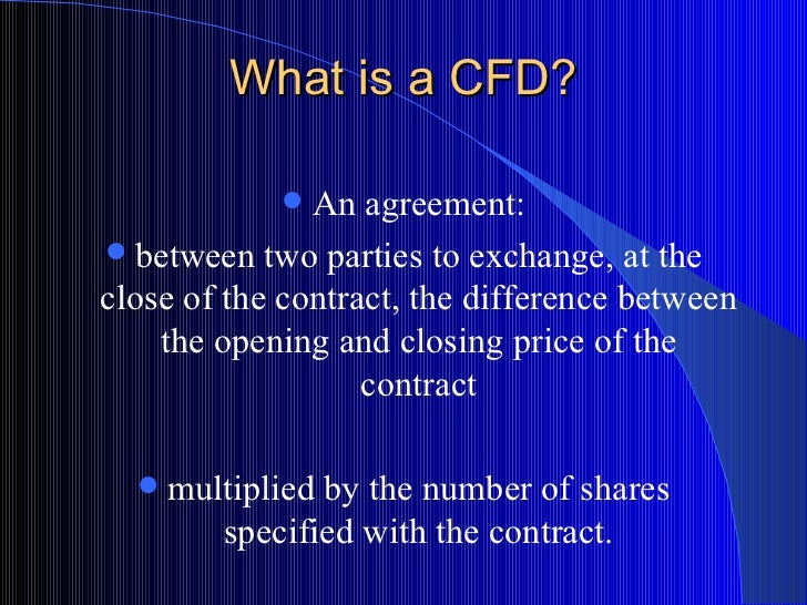 what is a cfd trade