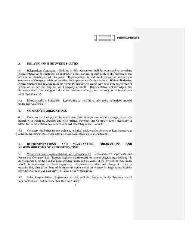 Sales Agent Contract Gerhard Leixl