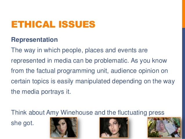 Ethical issues in the media?