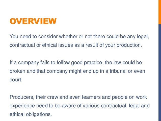 ethical and legal consideration When gamification enters the enterprise, the laws and regulations governing businesses apply to gamification as well, with severe consequences for non- compliance here are a few legal and ethical considerations that affect gamification in the work place we recommend consulting your company's legal department (since.